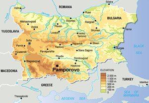 Kaart van Bulgarije